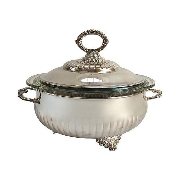 Metal Vintage Silver Plate Tureen For Sale - Image 7 of 7