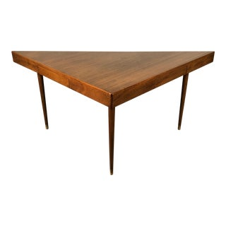 Harvey Probber Mid-Century Modern Triangular Console Table / Desk For Sale