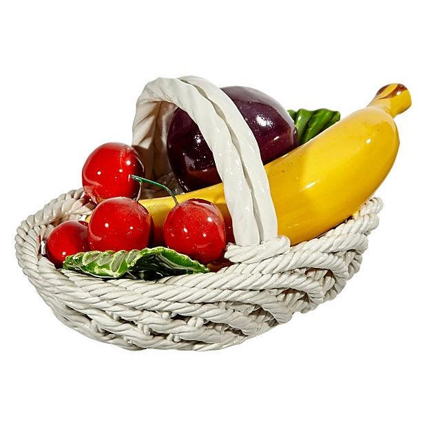 1970s Fruit Ceramic Basket - Image 3 of 4