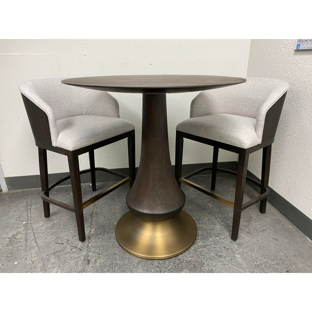 Design Plus Gallery presents a Dining Room Curata Pub Table + Two Barstools. by Hooker Furniture. Create a curated chic...
