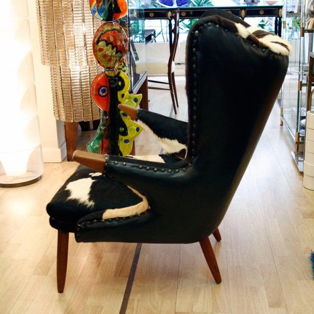 Svend Skipper Svend Skipper Wingback Chair For Sale - Image 4 of 5