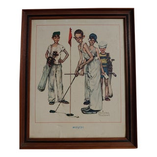 1950s Vintage Norman Rockwell Painting For Sale