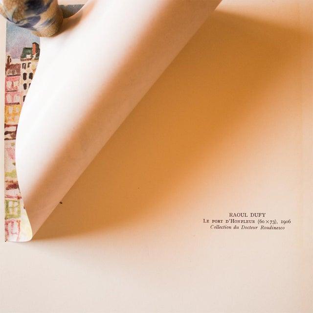 """1940s 1948 Raoul Dufy, Original Period Parisian Lithograph """"Le Port D'Honfleur"""" For Sale - Image 5 of 8"""