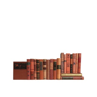Midcentury Scarlet & Black : Set of Twenty Decorative Books For Sale