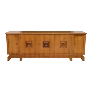 Fine French Modern Fruitwood Sideboard or Buffet by Jules Leleu For Sale