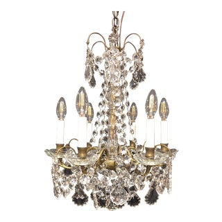French Antique Louis XVI Style Six Arm Chandelier Circa 1890s For Sale