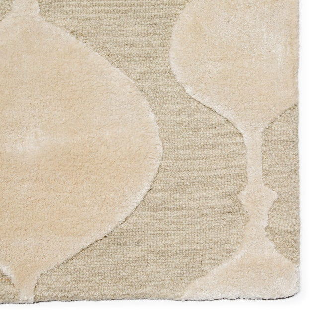 Contemporary Nikki Chu by Jaipur Living Sui Handmade Geometric Beige/ Cream Area Rug - 8′ × 10′ For Sale - Image 3 of 6