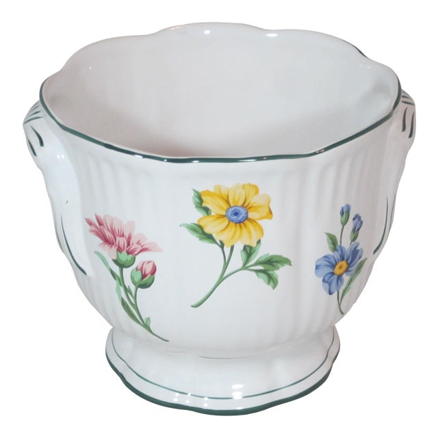 Vintage Tiffany & Company Floral Cachepot For Sale