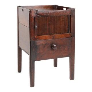 George III Mohogany Cabinet With Tambour Door For Sale