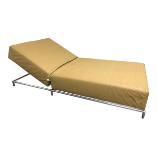 B&b Italia George Pouff Adjustable Leather Chaise Lounge For Sale