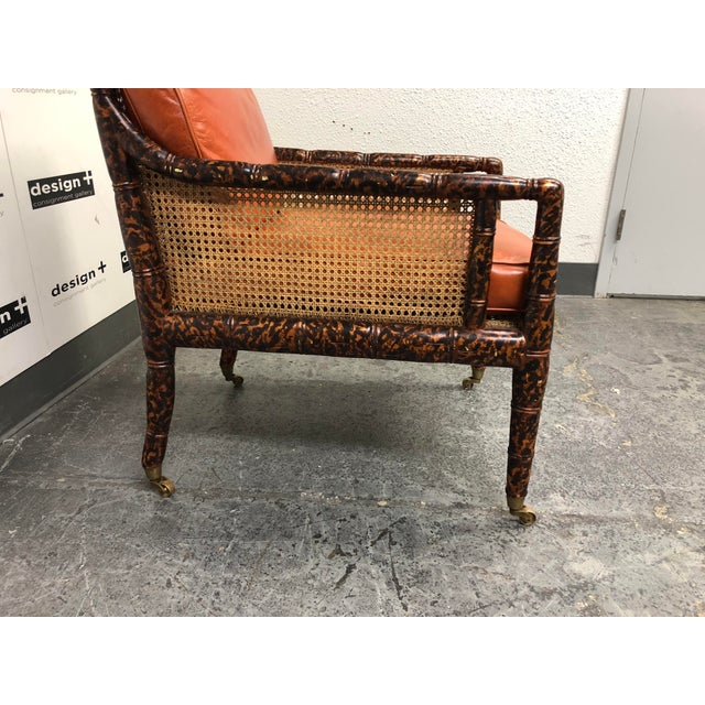 Dessin Fournir Dessin Fournir Regency Chinoiserie Bamboo Caned Arm Chair For Sale - Image 4 of 10