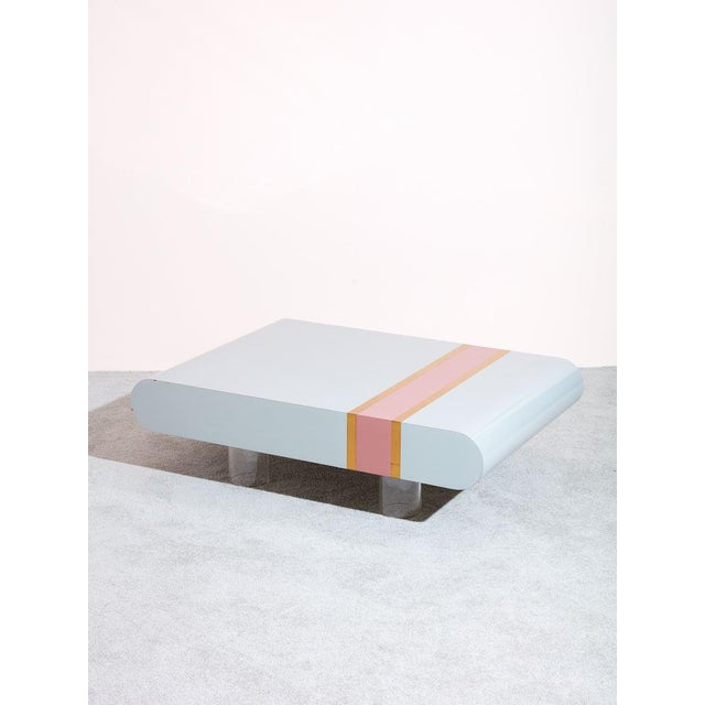 Mid-Century Modern Vintage 1980s Laminate Coffee Table For Sale - Image 3 of 3