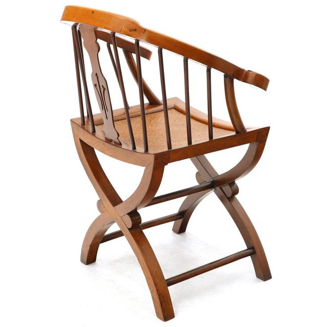 1970s 1970s Teak Horseshoe Back Lounge Chairs - a Pair For Sale - Image 5 of 13