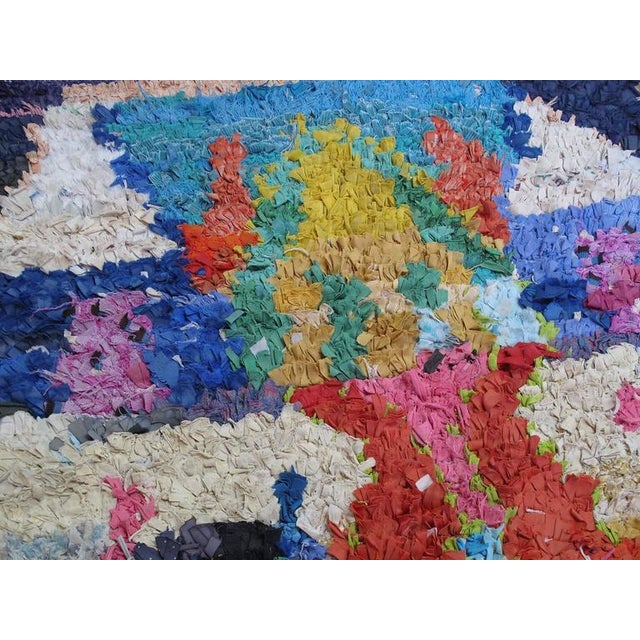 """Textile Moroccan """"Boucherouite"""" Rug For Sale - Image 7 of 9"""