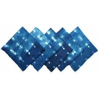 Night Stars Vintage Linen Napkins - Set of 5