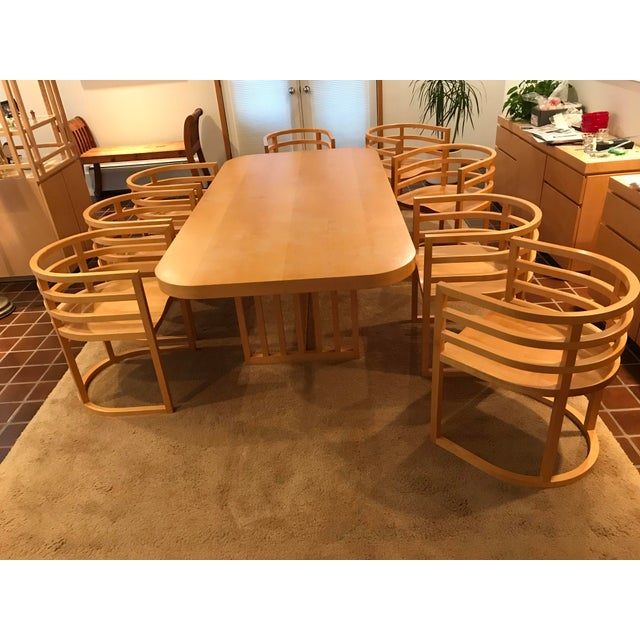 Richard Meier Dining Room Setting Table and 8 Chairs For Sale In Denver - Image 6 of 6