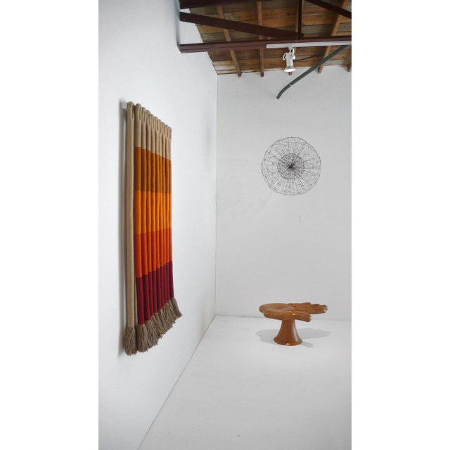 'Orange Gradient' by Fiber artist Jane Knight. Comprised of 19 elements, signed with copper metal label, excellent...
