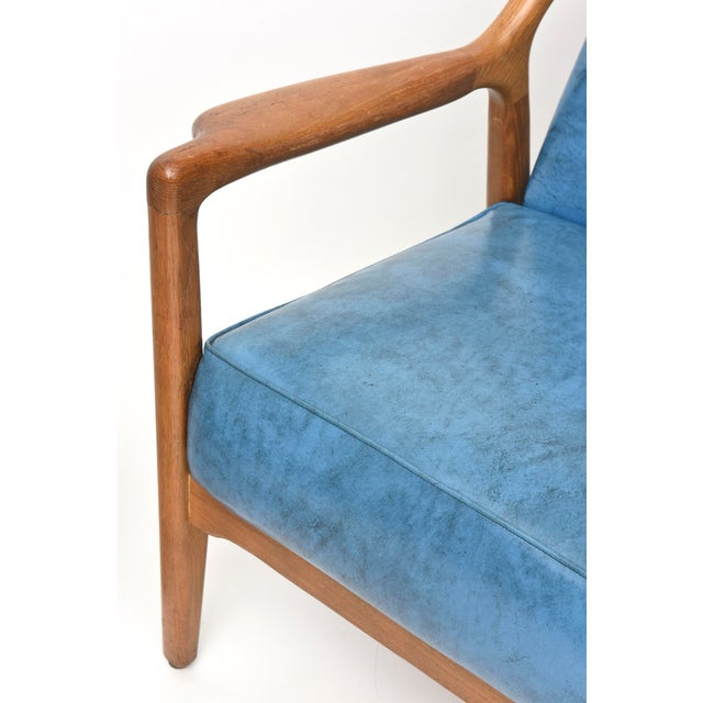 Fabric Pair of Italian Modern Walnut Armchairs, Carlo de Carli For Sale - Image 7 of 11