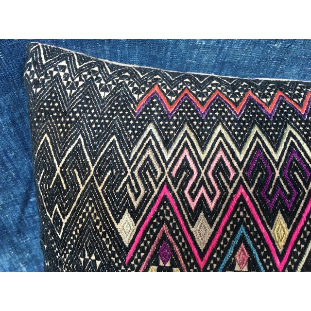 Antique Intricate Handwoven Tribal Textile Pillow - Image 6 of 9