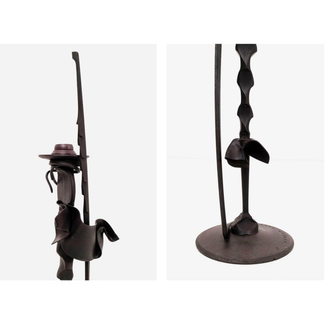 Contemporary Pair of Albert Paley Condle Holders For Sale - Image 3 of 6