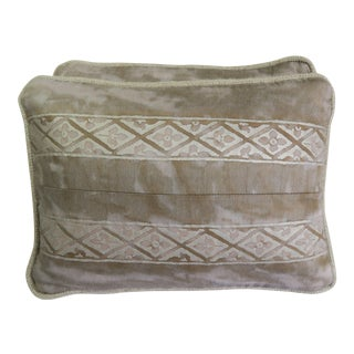 Pair of Fortuny Textile Pillows For Sale