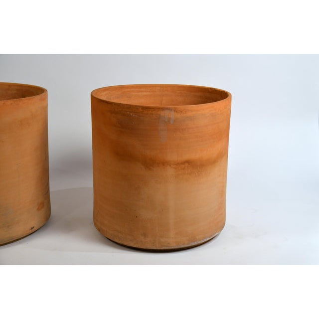 Large Unglazed Architectural Terracotta Planters by Gainey Ceramics - a Pair For Sale In Los Angeles - Image 6 of 10
