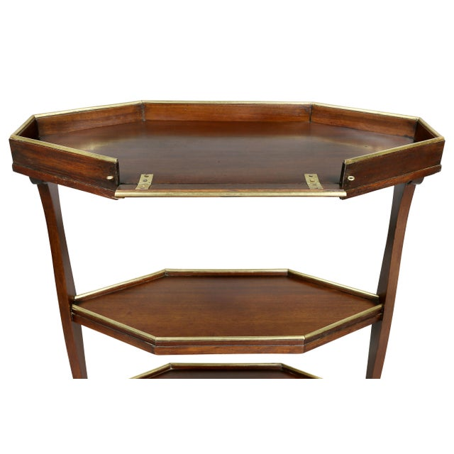 Early 19th Century Directoire Mahogany and Brass Mounted Table For Sale - Image 5 of 13