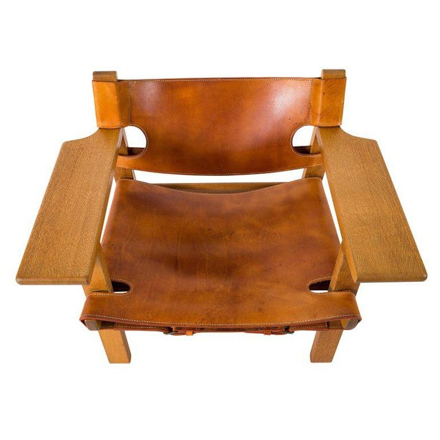 "Børge Mogensen ""Spanish"" Chair For Sale - Image 9 of 10"