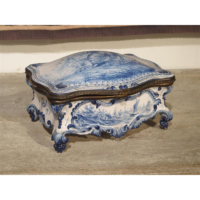 Antique Blue and White Delft Table Box, Late 19th Century For Sale - Image 13 of 13