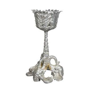 Arthur Court Aluminum Alloy & Brass Plate Elephant Plant Stand