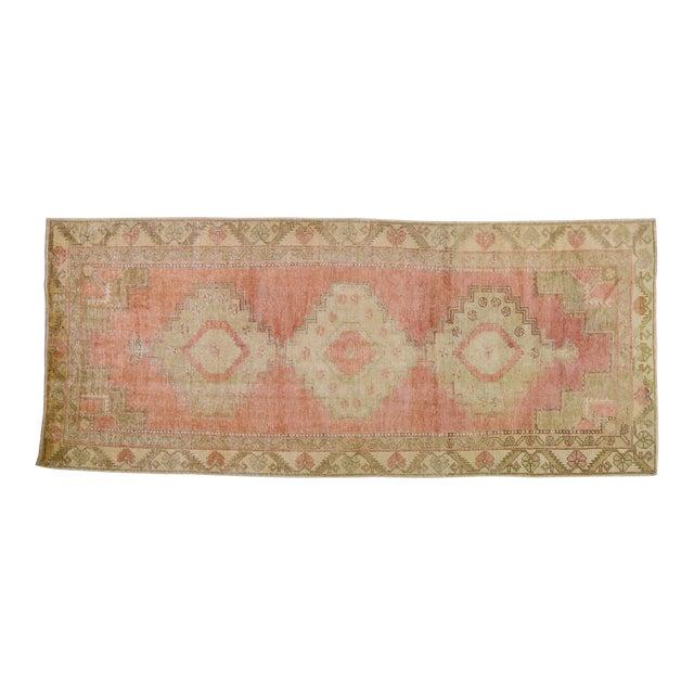 """Vintage Turkish Oushak Rug,4'4""""x10'6"""" For Sale"""