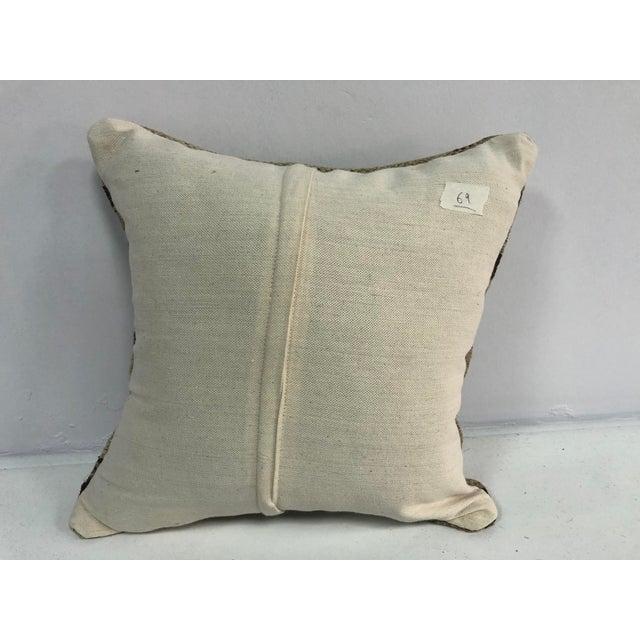1970s Turkish Stripe Design Anatolian Kilim Pillow For Sale - Image 5 of 6