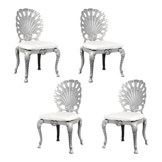 Vintage Set of 4 Grotto Aluminum Chairs