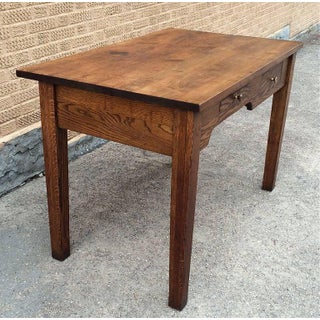 Early 20th Century Industrial Oak Engineer Foreman's Desk Preview
