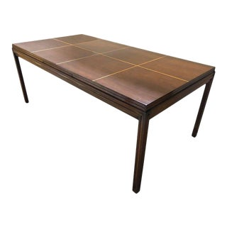 Tommi Parzinger Dining Table Lacquered Mahogany With Satinwood Inlays