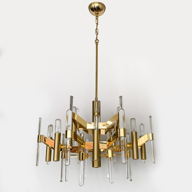 """Designer: Gaetano Sciolari Italy - Circa 1970s Dimensions: 45"""" W x 26"""" DIA Condition: Excellent vintage condition. Large..."""