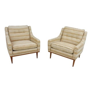 1960s Mid-Century Modern Milo Baughman for James Inc Articulate Lounge Chairs - a Pair For Sale