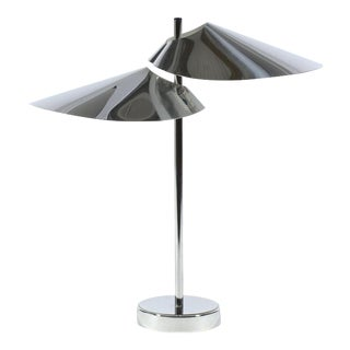 Curtis Jere Chrome Table Lamp For Sale
