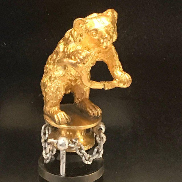 "Traditional 19th Century Russian Ormolu ""Dancing Bear"" Sculpture For Sale - Image 3 of 11"