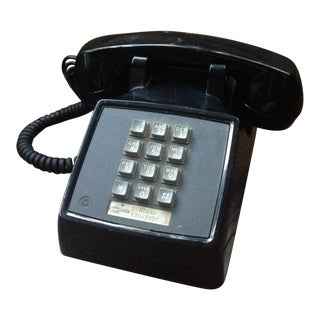 Vintage Black Push Button Telephone For Sale