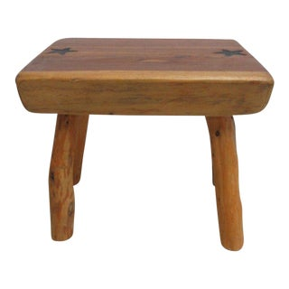 Texas Hill Country Slab Wood Foot Stool