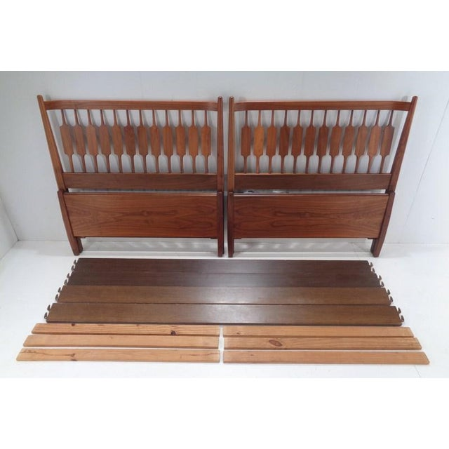 Kipp Stewart for Drexel Declaration Twin Beds ~ a Rare Pair For Sale - Image 12 of 13