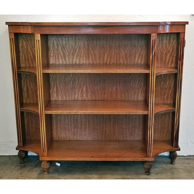 Pair of Sheraton Style Open Bookcases For Sale - Image 11 of 11