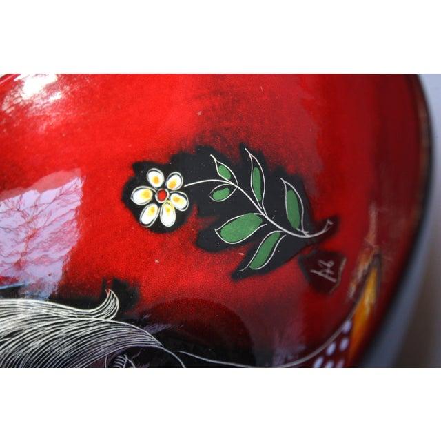 Red Mid Century Italian Modern Melior Enamel Bowl For Sale - Image 8 of 11