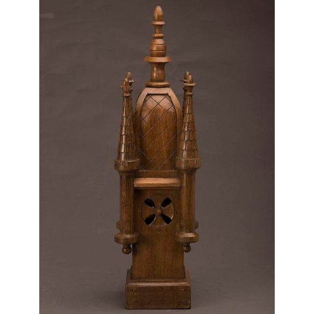 19th Century Wood Carved Small Scale Medieval Tower Model For Sale - Image 4 of 6
