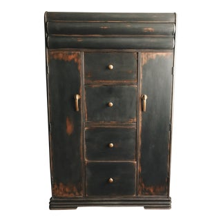 Dixie Rustic Art Deco Waterfall Highboy Wardrobe