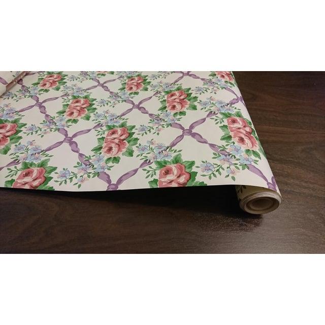 Waverly Cordelia Wallpaper - Set of 4 Rolls For Sale - Image 4 of 5