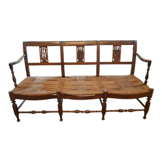 Antique French Country Hall Bench For Sale