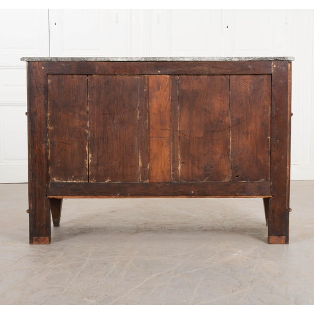 Early 19th Century French Early 19th Century Louis XVI Style Walnut Commode For Sale - Image 5 of 12
