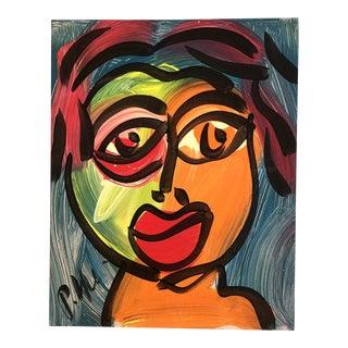 Vintage Original Peter Robert Keil Face Painting For Sale
